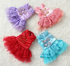 DF Pet Dog Cat Clothes Apparel Puppy Dog Bowknot Dress Chinese Style Skirt 5Size