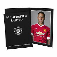 Personalised Manchester Man United Memphis Depay Autograph Signed Photo Folder