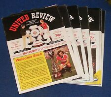 MANCHESTER UNITED HOME PROGRAMMES 1982-1983