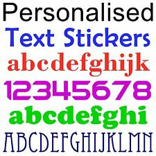 Personalised Text Stickers - Your wording in letters or numbers up to 6-inch