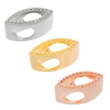 1PC Oblate European Charm Spacer Beads Crystal Flat Jewelry Findings DIY