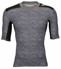 adidas TechFit 14 Compression Short Sleeve ClimaLite Training / Underlayer Gray