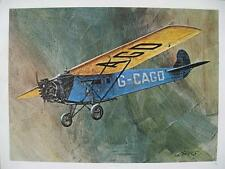 Aviation Art C P Air Canada Airplane Fokker Universal Vintage Print by Banks WOW