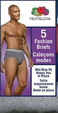 New Fruit of the Loom Mens 5 Pack Fashion Briefs Cotton Underwear Assorted S 2XL