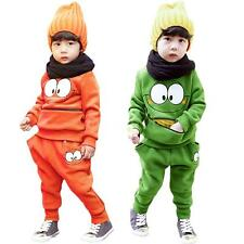 Cute Baby Boys Girls Kids Autumn SportsWear Tracksuit Outfit Unisex Smiling Face