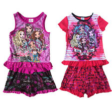 Girl Kids Monster High 6-16Y Sleepwear Nightwear Top Shirt+Pants Pajamas Outfits