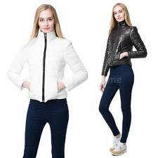 Women's Winter Warm Zipper Slim Down Jacket Collar Cotton Hooded Coats Outerwear