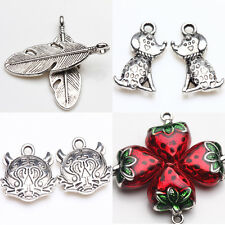 Tibet Silver Heart Dog Leaf Tiger Charm Delicate Pendants Jewelry Making
