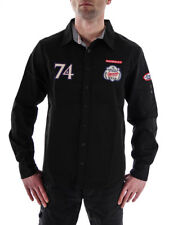 MOD Long-sleeve Shirt MS171 black Kent collar Patches embroidered