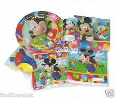 Mickey Mouse Party Bags Tableware Plates Cups Napkins Balloons Banners Clubhouse