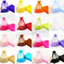 Newest 100Pcs Pouches Jewelry Packing Pouch Wedding Favor Organza Gift Bag 2Size