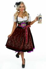 K86 Deluxe Oktoberfest Beer Maid Dress Up Heidi Costume Bavarian German Dirdnl