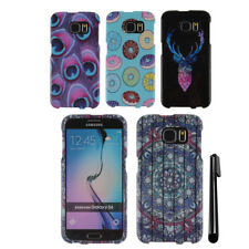 For Samsung Galaxy S6 G920 Snap On PATTERN HARD Case Phone Cover + Pen