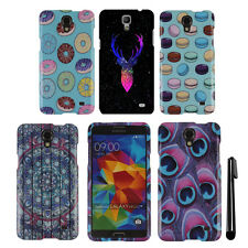 For Samsung Galaxy Mega 2 G750F Snap On PATTERN HARD Case Phone Cover + Pen