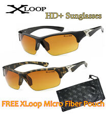 XLOOP SPORT HD NIGHT DRIVING VISION SUNGLASSES YELLOW HIGH DEFINITION GLASSES