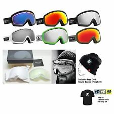 NEW Electric EGB2s Mens Womens Ski Snowboard Goggles Free Lens+Hat Msrp$170