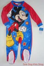 MICKEY MOUSE Toddler Boys 24 Mo 2T 3T 4T 5T Footed Pajamas SLEEPER Pjs Disney