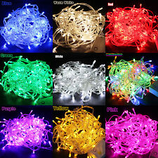 200LED 20M Fairy String Light Lamp Bulb Lighting Christmas Party Xmas Tree Decor