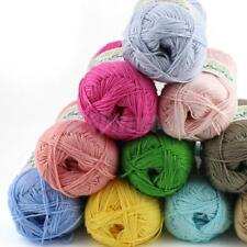 50g Soft Tencel Bamboo Cotton Knitting Yarn Crochet Wool DIY Weaving 10 Colors