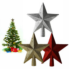 Hot Christmas Tree Decoration Stars Topper 3 Colors Decoration Dazzling Twinkle