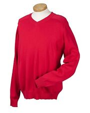 Devon & Jones Classic Mens V-Neck Sweater. D475