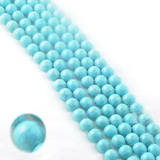 10-200Pcs High Quality Natural Gloosy Turquoise Spacer Loose Beads 4/6/8/10mm
