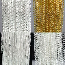 Wholesale 10/100Pcs Plated Glossy Alloy Chains Necklace Jewelry Findings 3x2mm