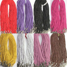 Lots 5-50Pcs Leather Rope String Cord Lobster Clasp Chain Necklace Findings 46cm