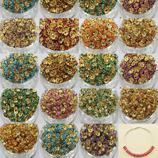 Hot 8mm Crystal Gold Plated Glossy Loose Spacer Beads Jewelry Making