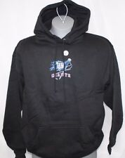 NEW Mens NFL New York NY GIANTS Football Hoodie Black Cartoon Style Sweatshirt