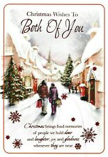 traditional TO / FOR BOTH OF YOU happy christmas card - 4 x cards to choose from