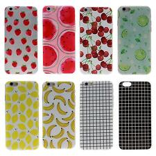 """Fruit Grid Print Cellphone Cover Case Protect Skin Shell For iPhone 6S 4.7"""""""