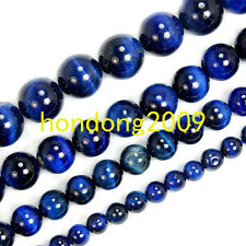 6mm /8mm/ 10mm/12mm Natural BlueTiger Eye Gemstone Round Loose Beads 15''L