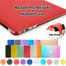 """Rubberized Hard Case Shell+ Keyboard Cover for Macbook Pro 13/15"""" Air 11/13""""inch"""