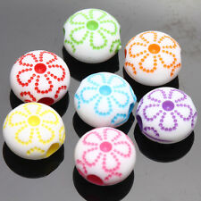 20/40Pcs Acrylic Mixed  Flower Loose Spacer Charm Beads Crafts Making 10*6MM DIY