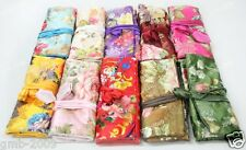 Wholesale Mix Colors SILK JEWELRY TRAVEL BAG Roll Case Pouch Carrying Flower