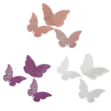 50x Butterfly Table Glass Place Cards Pearlescent Laser Cut Wedding Table Decor
