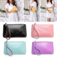 New Womens Fashion Clutch Zipper Leather Handbag Ladys Wallet Phone Coin Purse