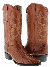 mens cognac brown exotic lizard western leather cowboy boots crocodile team west