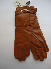 UGG ® Australia,Cashmere Lined Genuine Leather Gloves,Chestnut,NWT