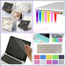 "4in1 Marble Painted Print Matt Hard Case Cover for MacBook Air 11"" Pro 12""13""15"""
