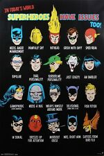 DC Comics Superheroes Have Issues Too Poster 57x86.5cm