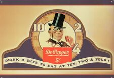 New Dr Pepper Drink A Bite To Eat Metal Tin Sign