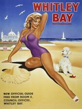 New Whitley Bay Vintage Advertising Metal Tin Sign