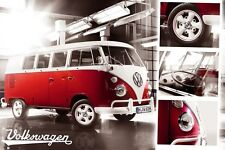 VW Camper Split Screen Poster 91.5x61cm
