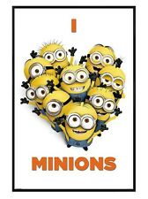New Gloss Black Framed Despicable Me 2 I Love Minions Poster