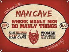Welcome To The Man Cave Tin Sign 40.7x30.5cm
