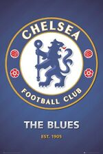 New The Blues Club Crest Chelsea Football Club Poster
