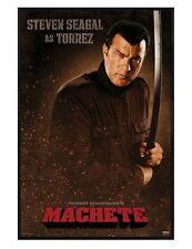 Machete Gloss Black Framed Steven Seagal is Torrez Maxi Poster 61x91.5cm