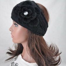 13 Colors Knit Flower Headband Women Crochet Winter Ear Warmer Hairband Headwrap